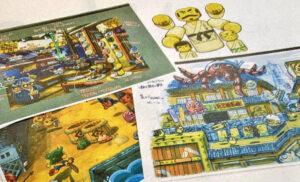bocetos de Yoshi's Crafted World