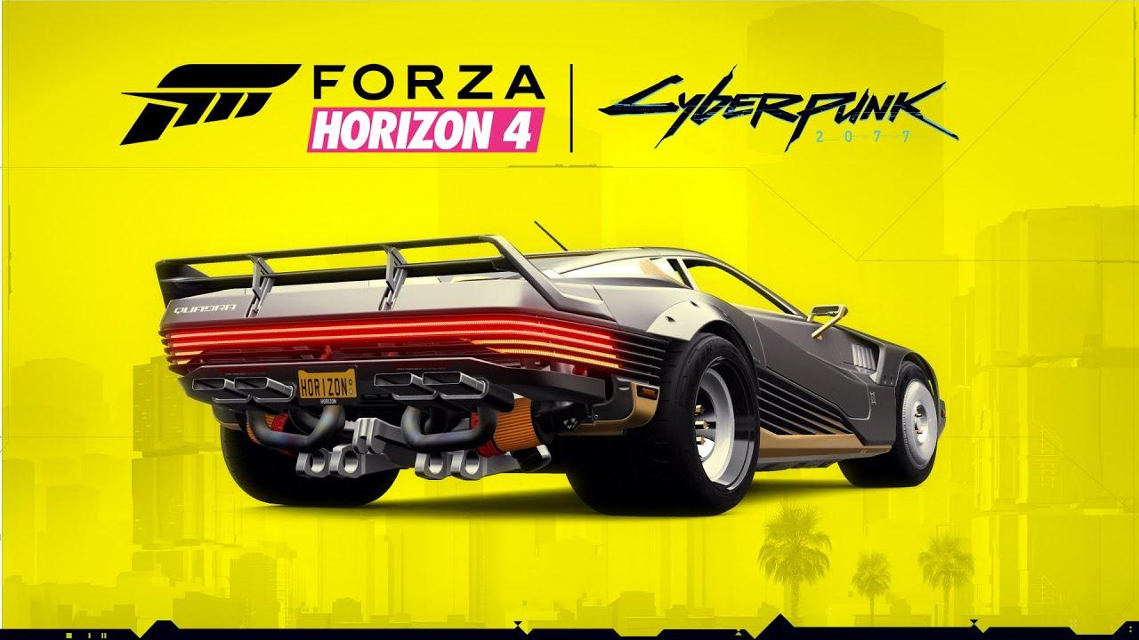 Auto de Cyberpunk 2077 llegará a Forza Horizon 4
