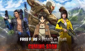 Free Fire revela colaboración con Attack on Titan